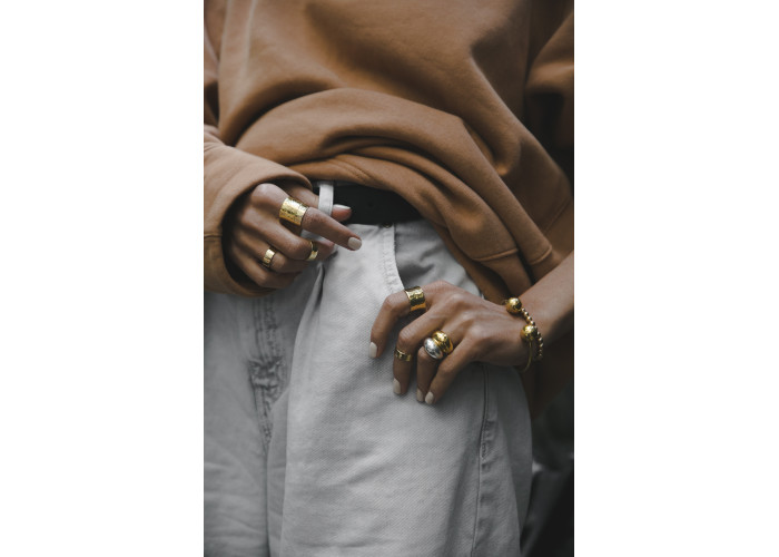 Кольцо широкое // позолота