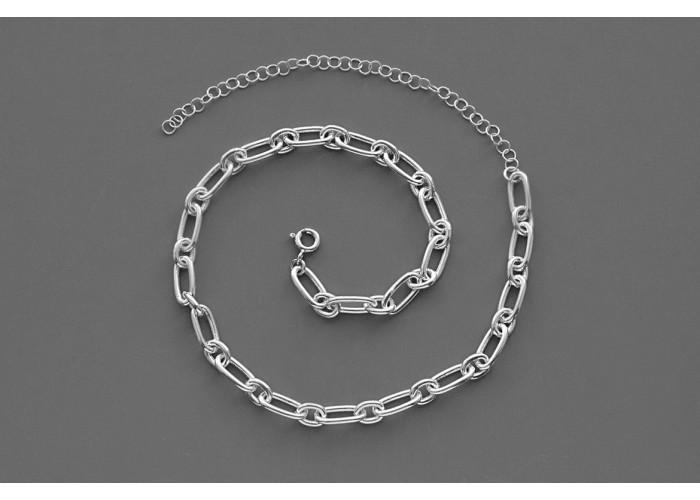 Чокер цепь крупная // серебро
