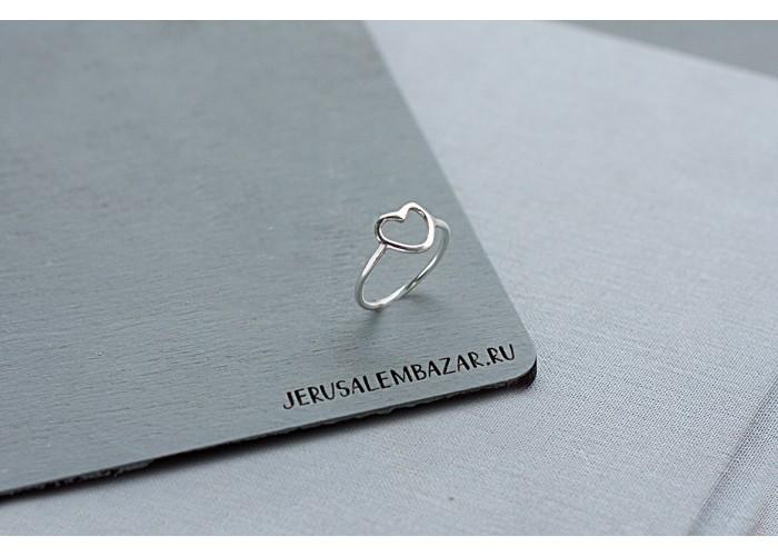 кольцо с сердцем // серебро
