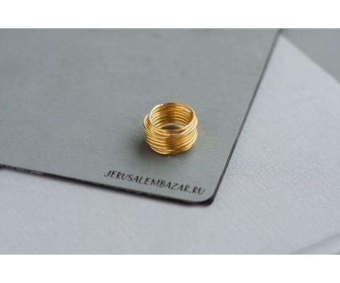 кольцо проволочное  // серебро с позолотой