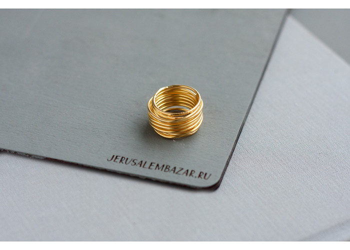 кольцо проволочное // позолота