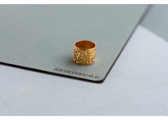 широкое кольцо // позолота