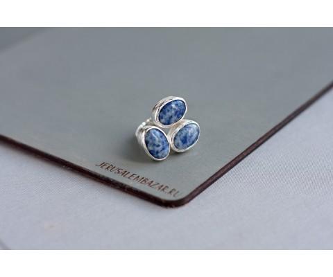 кольцо с содалитом // серебро