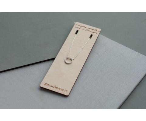 подвеска колечко с цирконами // серебро