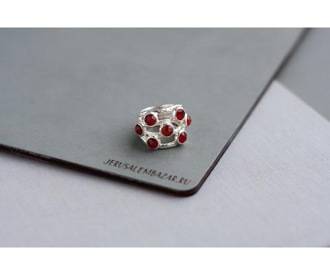 кольцо с кварцем // серебро