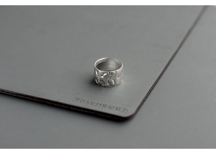 широкое кольцо // серебро