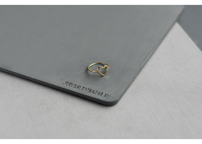 Кольцо с сердечком // голдфилд