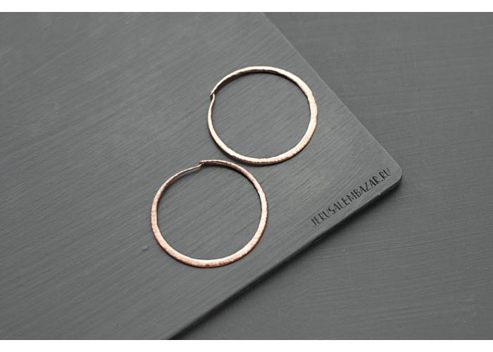 серёжки кольца // розовая позолота