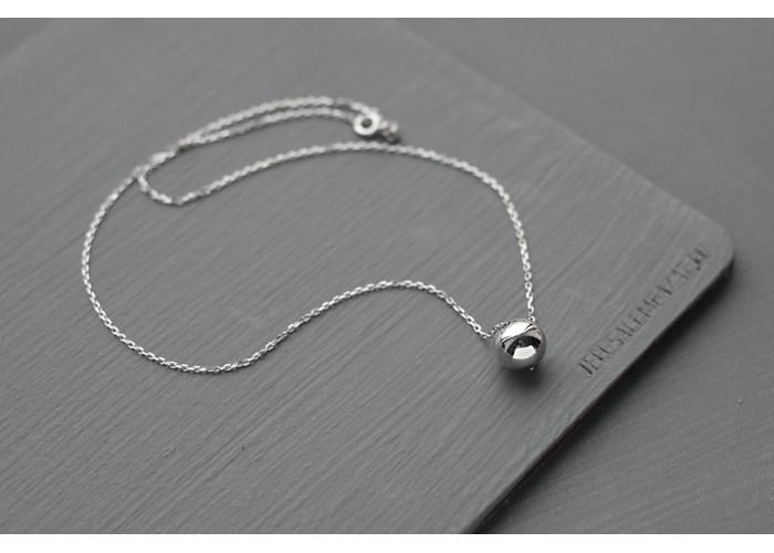 Цепочка с серебряной бусиной // серебро