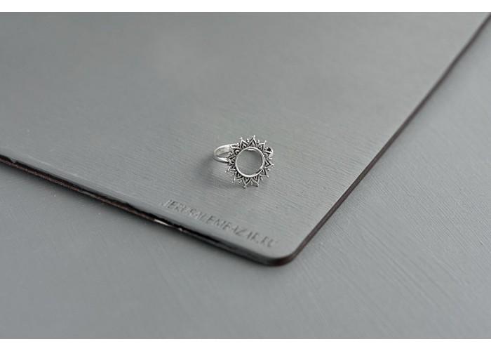 кольцо солнце // серебро