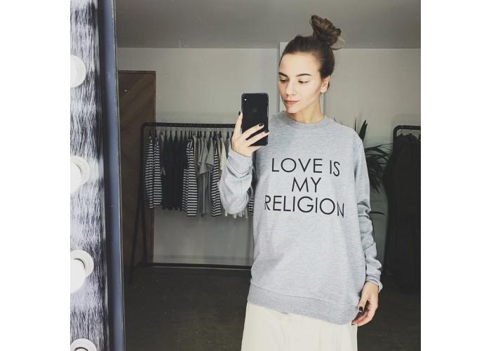 """Свитшот """"Love is my religion"""""""