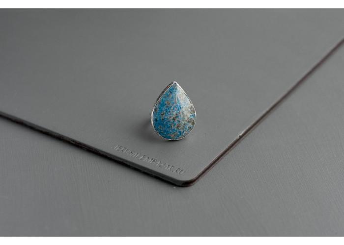 кольцо с каплей лазурита // серебро