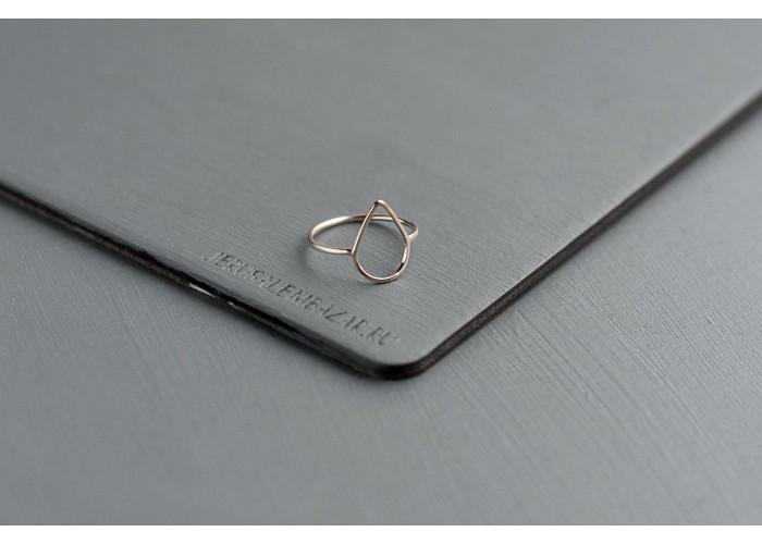 кольцо с каплей // голдфилд