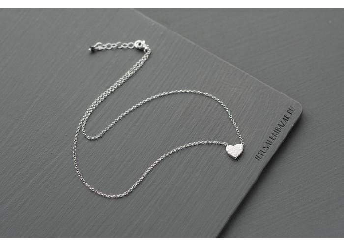 подвеска на цепочке с сердцем // серебро