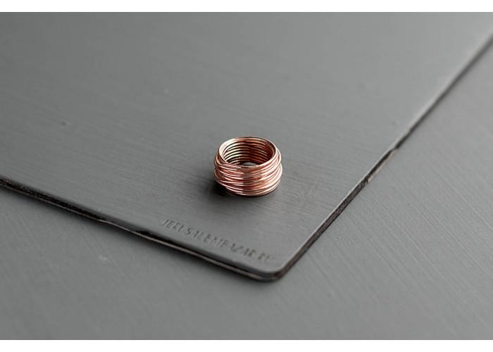 кольцо проволочное // розовая позолота