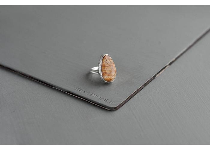 кольцо с яшмоагатом // серебро