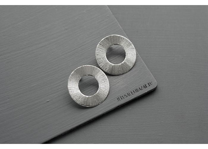 серёжки-диски // серебро