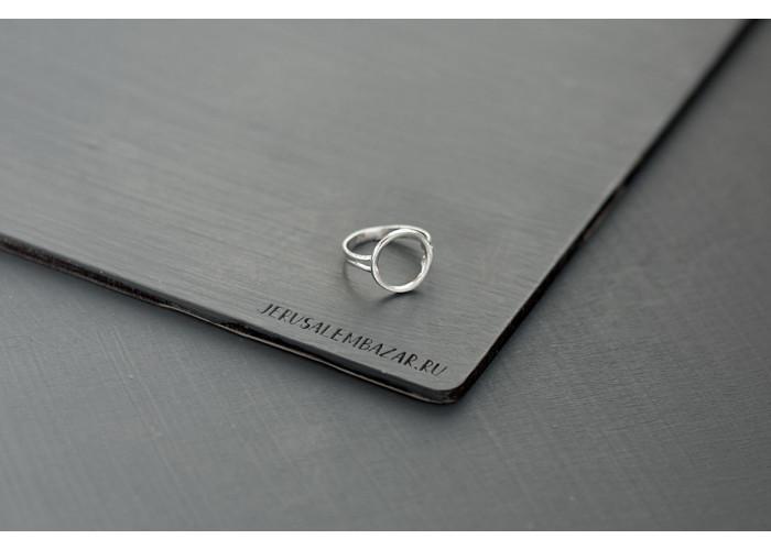 кольцо круг // серебро