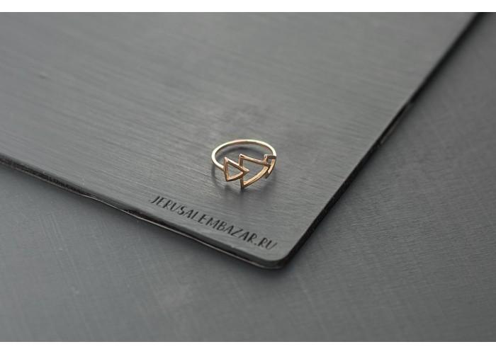 кольцо треугольники // голдфилд