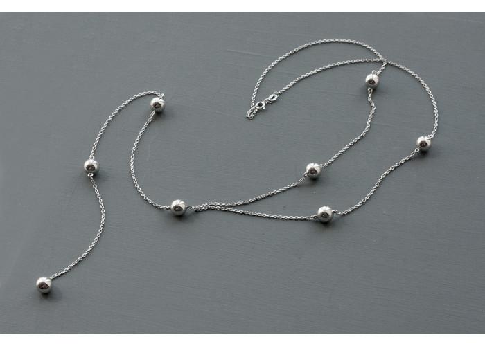 сотуар с бусинами из серебра // серебро
