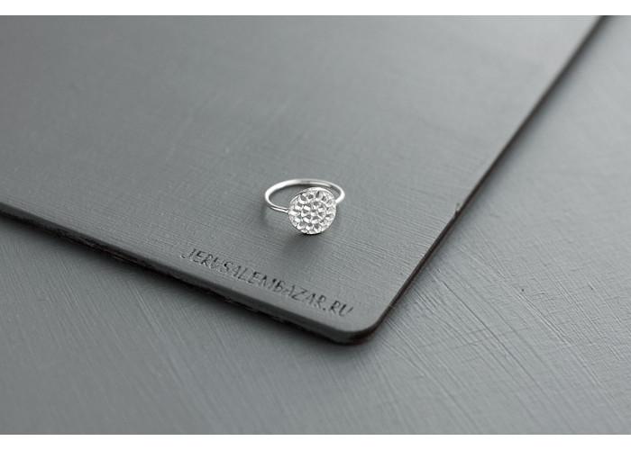кольцо со снежинкой // серебро