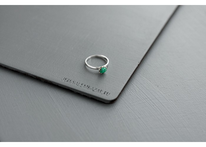 кольцо с бирюзовой эмалью // серебро