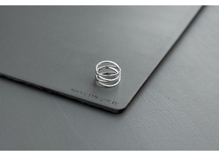 кольцо двойное // серебро