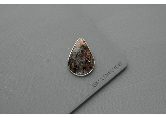 брошь с каплей астрофиллита // серебро