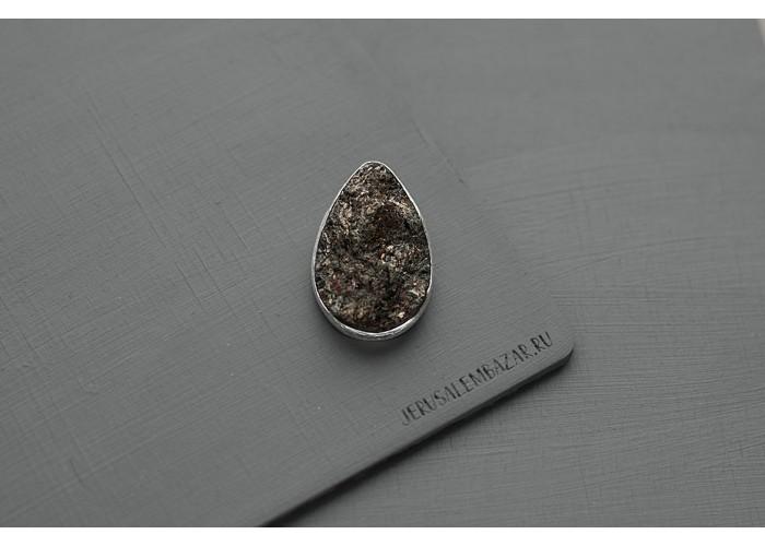брошь с каплей необработанного астрофиллита // серебро