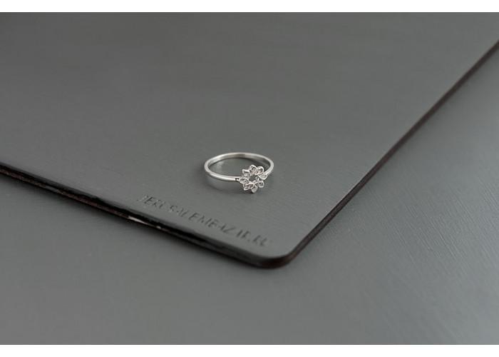 кольцо цветок // серебро