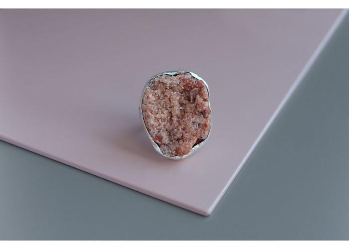 кольцо с целестином // серебро