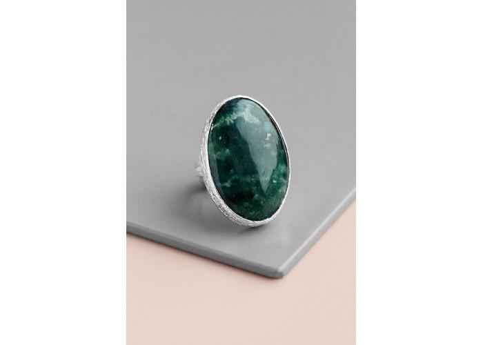 Кольцо с клинохлором // серебро