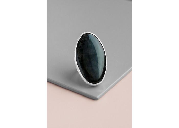 Кольцо с кошачьим глазом // серебро