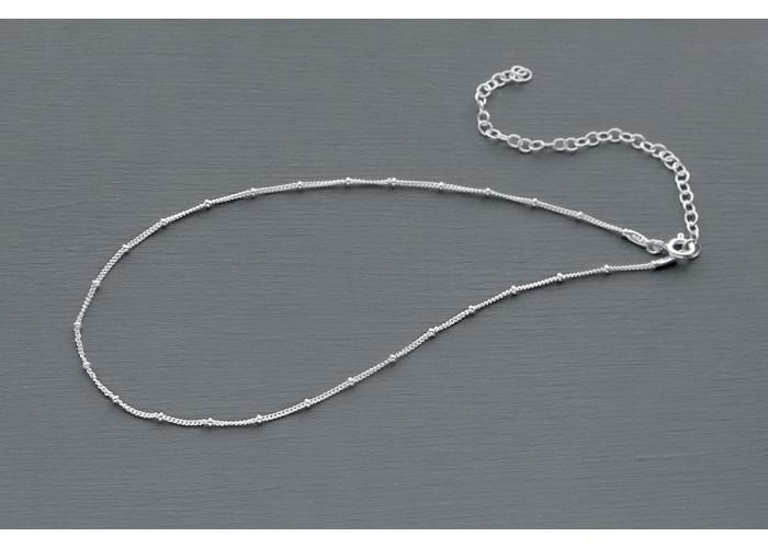 чокер с маленькими бусинками // серебро