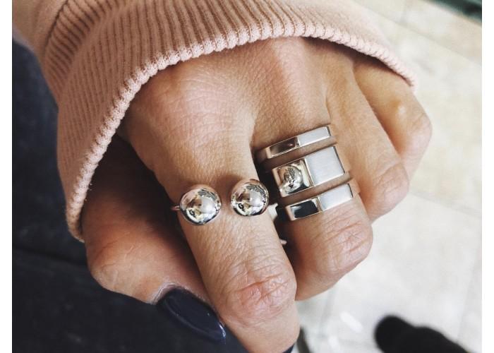 кольцо многогранное // серебро