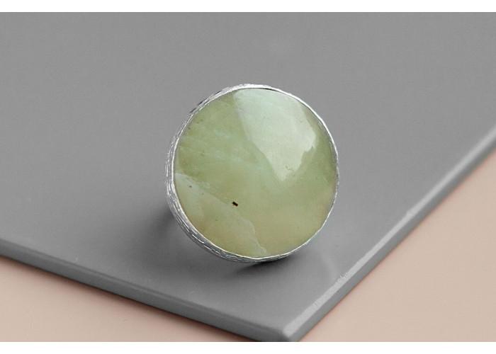 Комплект: серёжки и кольцо с везувианом // серебро