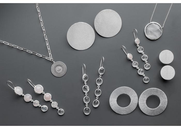 Серьги-диски маленькие // серебро