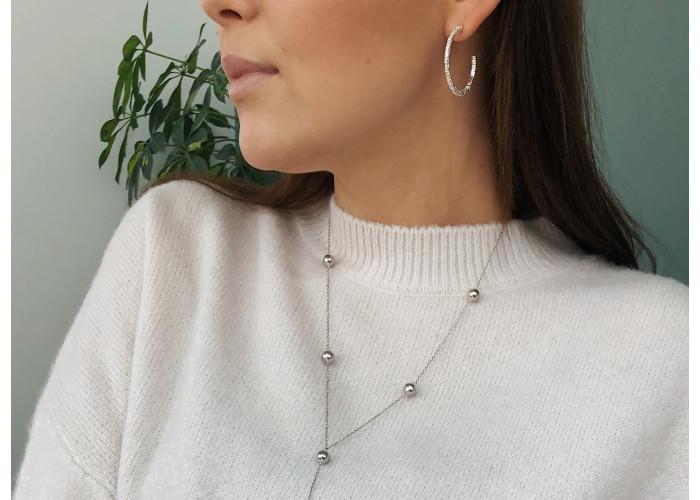 Серёжки-конго большие // серебро