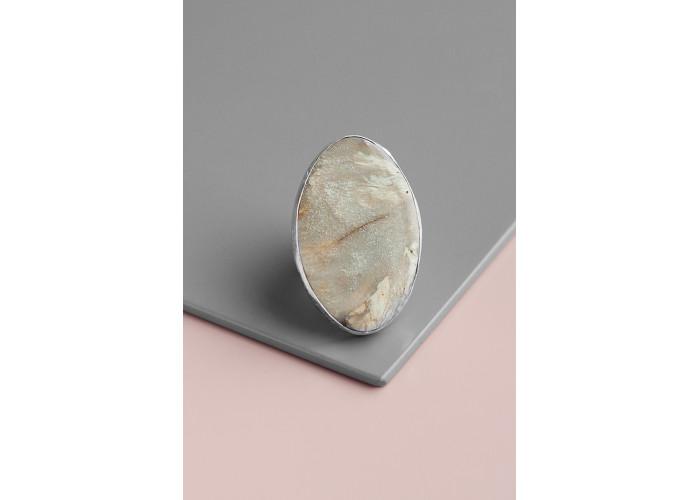 Кольцо овальное с авантюрином // серебро