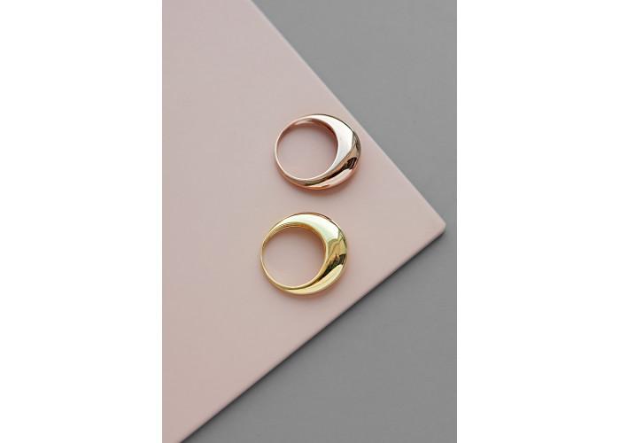 Кольцо галь тонкое // розовая позолота