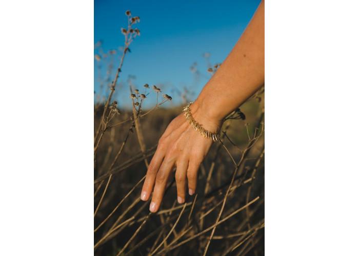 """Комплект: серьги, кольцо и браслет """"Розмарин"""" // позолота"""