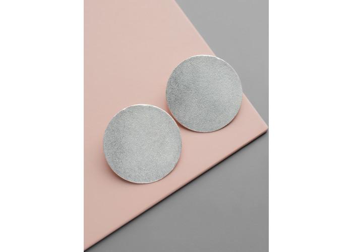 Серьги-диски // серебро
