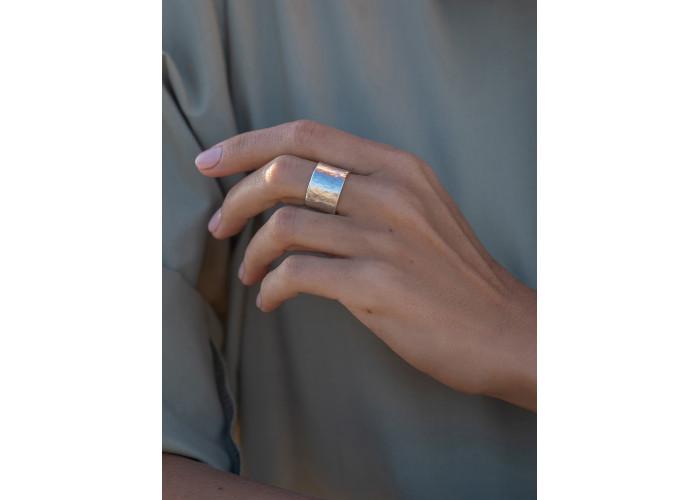 Кольцо широкое // серебро