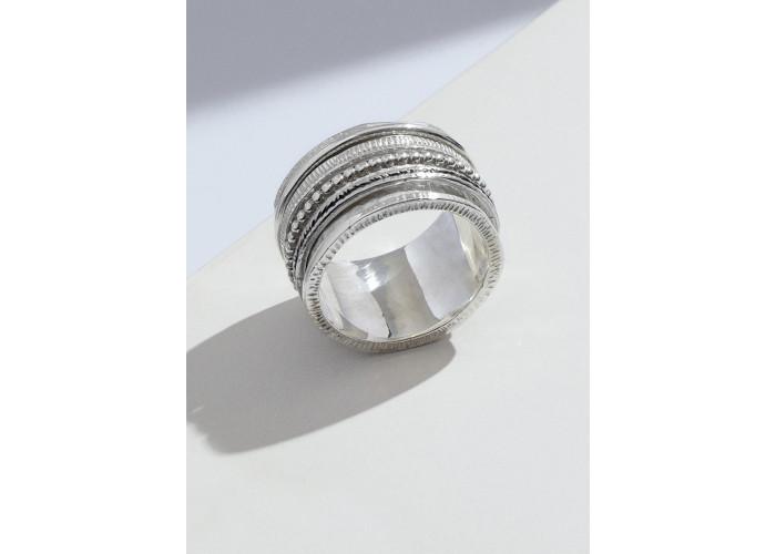 Кольцо-спинер максимализм // серебро