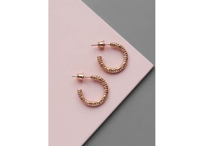 Серёжки-конго маленькие // розовая позолота