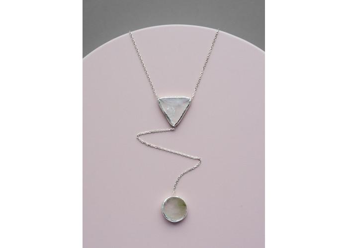 Сотуар с двумя камнями кварца // серебро